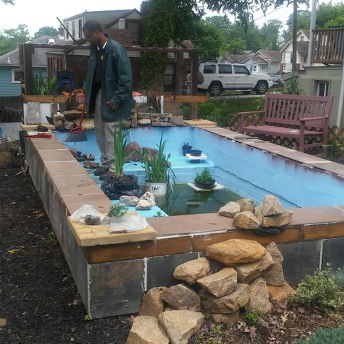 Our own 2-year old project, A Pond 98% complete