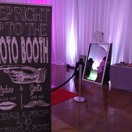 Magic Mirror Booth at a wedding
