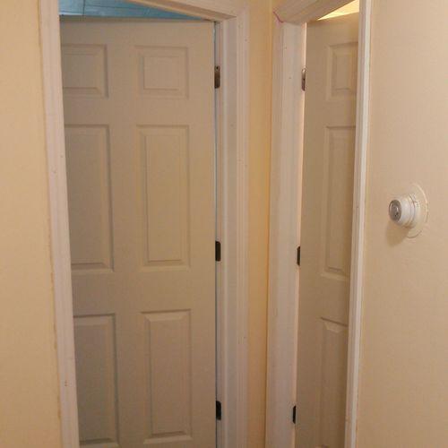 Interior door replacement; $150