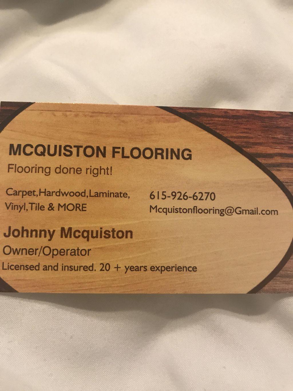 Johnny McQuiston Flooring Installation