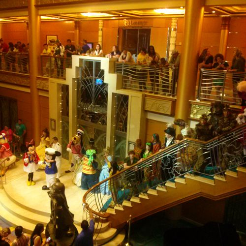 Disney Welcome party on Disney cruise