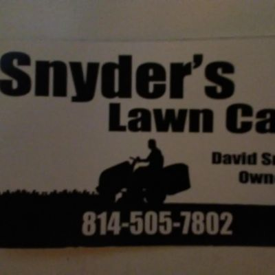 Avatar for Snyder's Lawn Care and Handyman Services