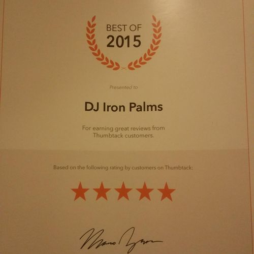 DJ of the Year for 2015 in Tucson.