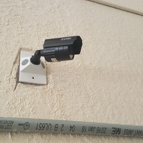 Outdoor Bullet Camera Install.