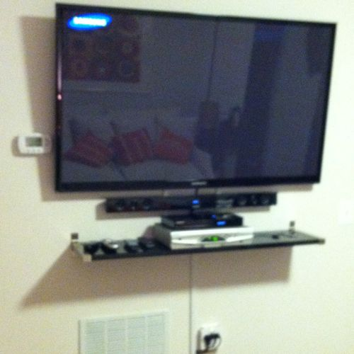Any kind of installation of network, surround sound tv's dvd projectors Bluetooth devices security cameras etc