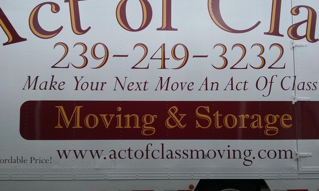 Act of Class Moving & Storage