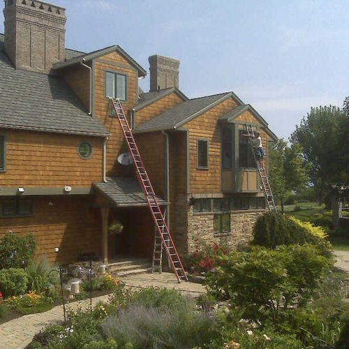 Every home gets our expert window cleaning care. We love unique challenges.