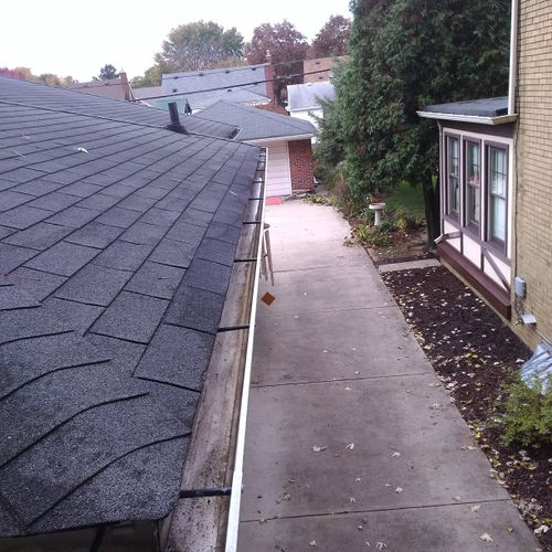 House Gutter After Cleaning