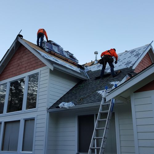 Olympia Residential Roof Replacement in progress. Installing GAF Timberline HD, our most popular shingle by far