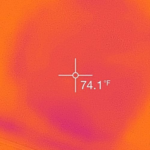 """Hidden water damage revealed with thermal camera. """"Think Able Eye before you buy"""""""