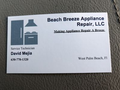 Avatar for Beach Breeze appliance repair Palm Beach Gardens, FL Thumbtack