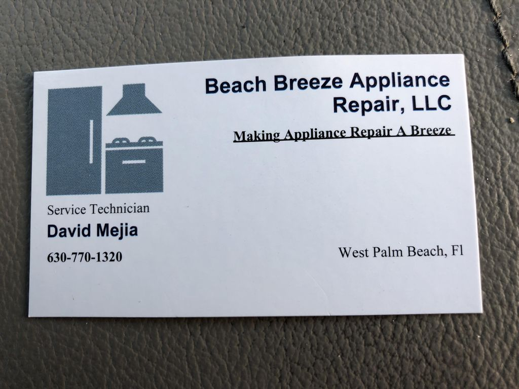 Beach Breeze appliance repair