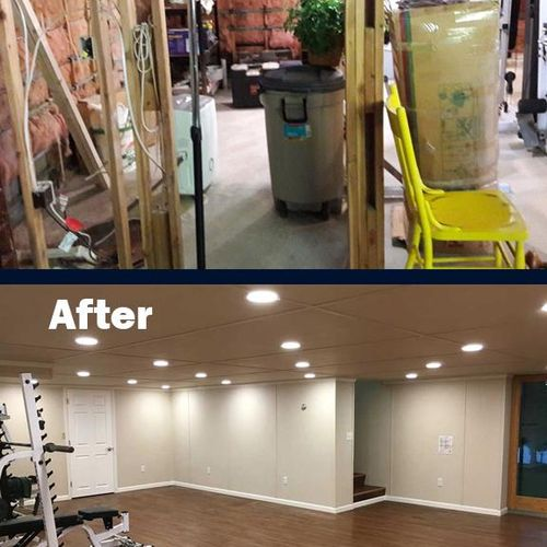 Our Total Basement Finishing™ system can transform a cluttered unfinished basement, into your new personal fitness area.