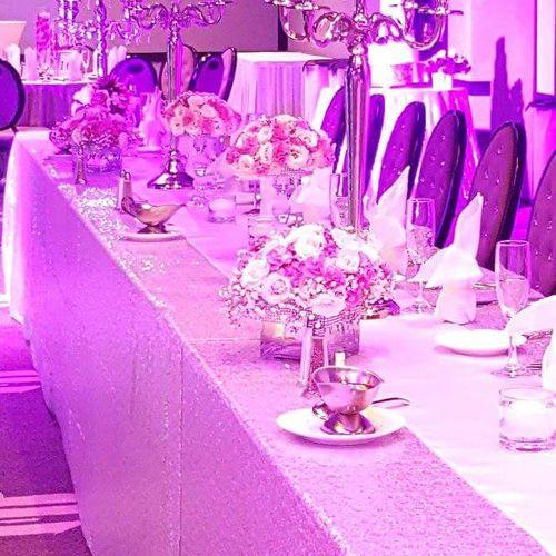 Gorgeous bridal party setup