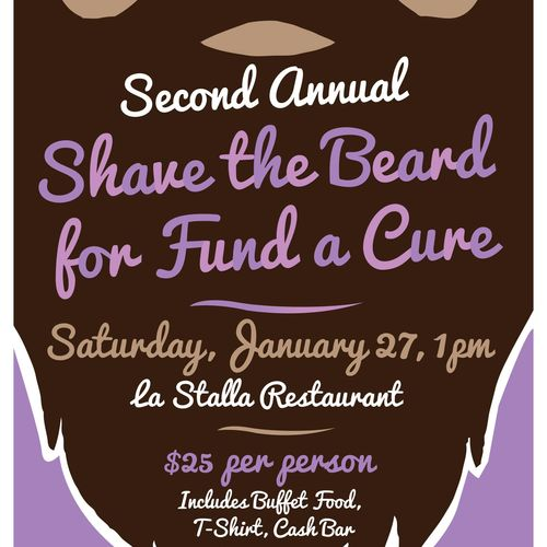 Shave the Beard fundraising event poster