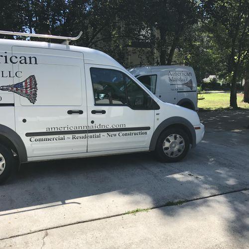 Vans on Work site