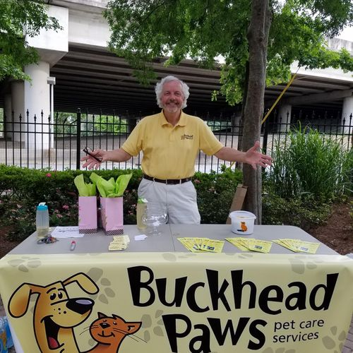 """Attending a """"Yappy Hour"""" for residents of a local apartment community"""
