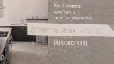 Avatar for Zimmerman Renovations, LLC Lima, OH Thumbtack