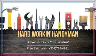 Avatar for Hard Workin' Handyman Ocala, FL Thumbtack
