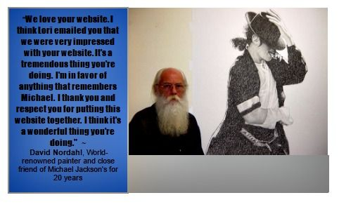 World-acclaimed painter David Nordahl's endorsement of my work