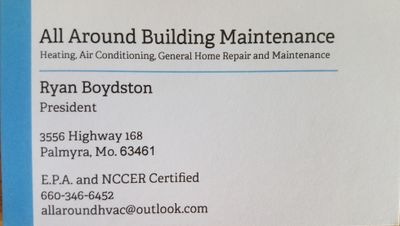 Avatar for All Around HVAC and Building Repair Palmyra, MO Thumbtack