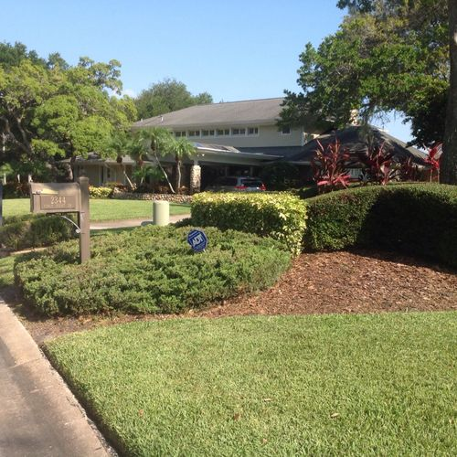 always nice and shape,lawn maintenance.