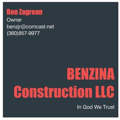 Avatar for BENZINA CONSTRUCTION LLC Clackamas, OR Thumbtack