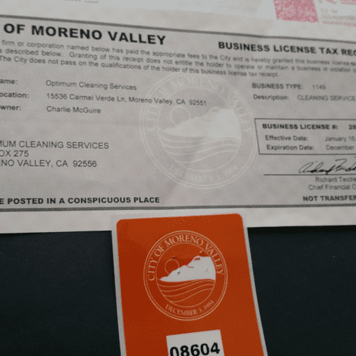 Licensed Cleaning Service City of Moreno Valley, CA