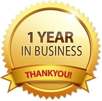 We just hit our one year anniversary!!  Thank you for the support!