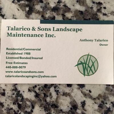 Avatar for Talarico & Sons Landscape Maintenance Inc.