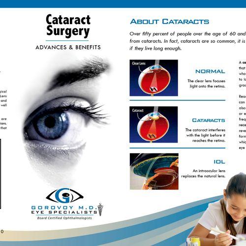 Brochure for eye specialist