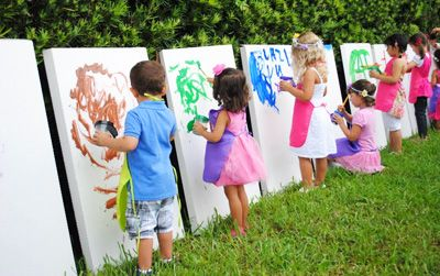 Outdoor Painting Activity