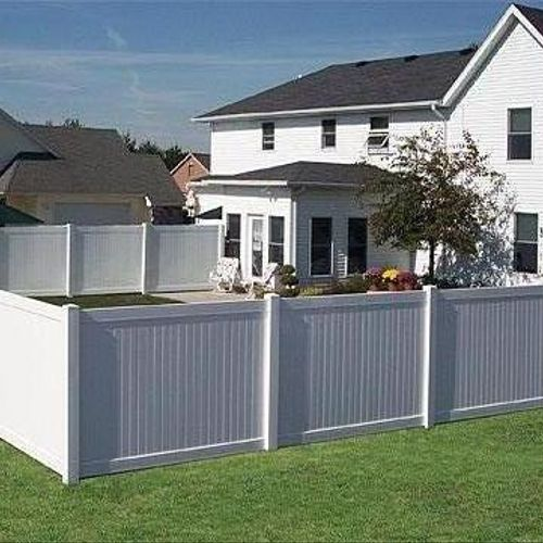 White Vinyl Privacy Fence is cost effective and lifetime warrantied.