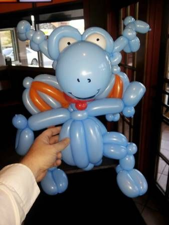 A manager in a restaurant I twisted at liked to challenge me each week - this is Doc McStuffin's dragon, Stuffy.