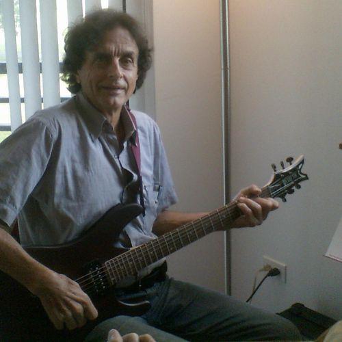 Teaching a guitar lesson