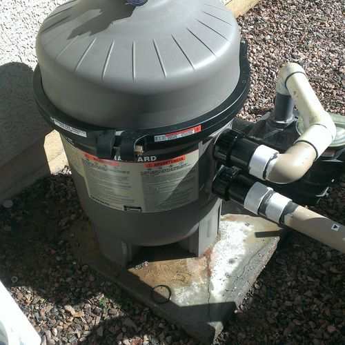 Filter Replacement - After Old Leaking Filter Replaced
