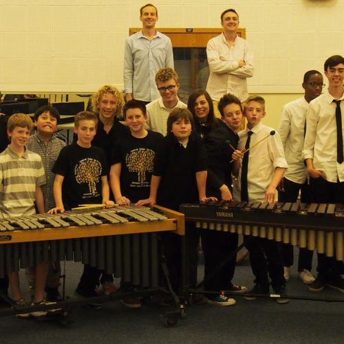 Denver School of the Arts percussionists