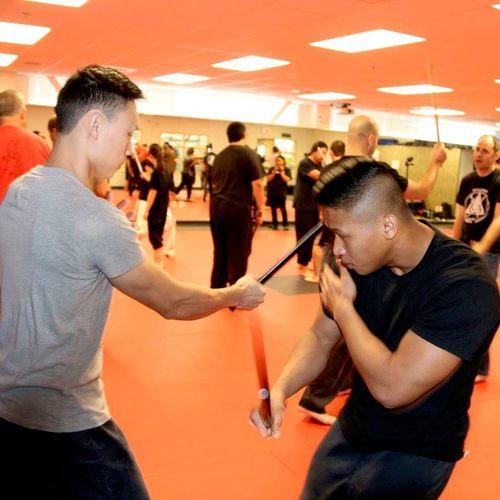Me (left) training at Master Rillamas's seminar back in 2016