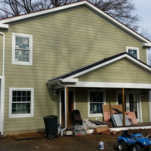 Rear Two Story Addition with Entry Porch