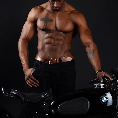 Fitness model and bodybuilder, Latwayne G.