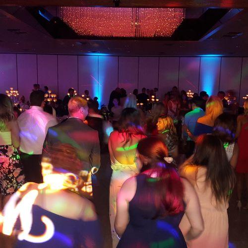 Wedding crowd danced all night.