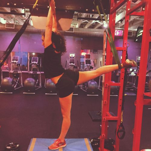 I combine strength training, yoga, Pilates, and dance!