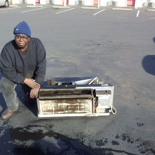 I specialize in cleaning Hotel A/C units called PTAC's. I have been servicing A/C units since 1998, 16 years
