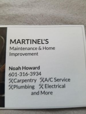 Avatar for Martinels Maintenance and Home Improvement Jackson, MS Thumbtack