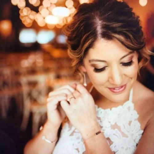 Airbrush Make-up on Bride:  ME