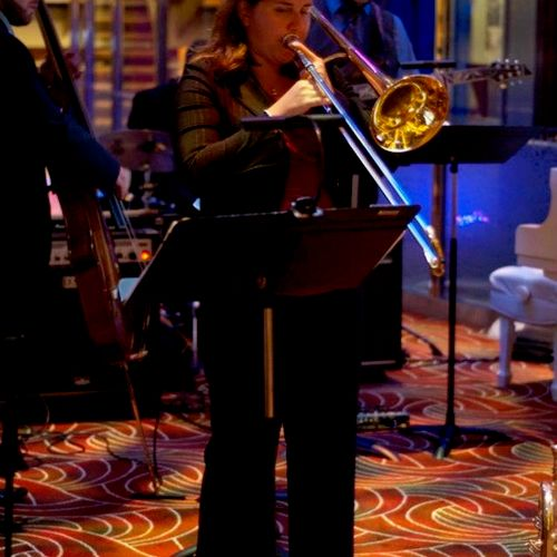 Performing in the orchestra on the Celebrity Eclipse, September 2011.