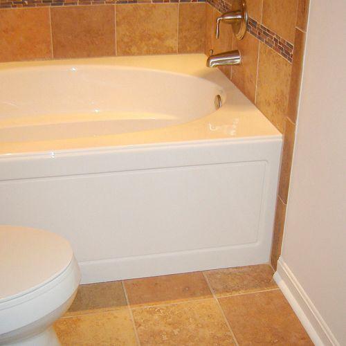 Bathroom remodel (1) - air jet tub and ceramic tile floor