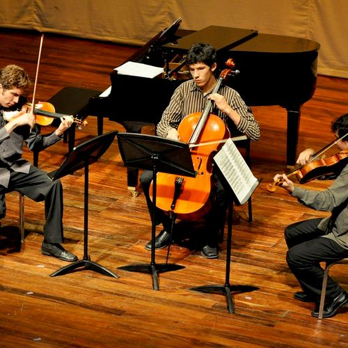 Playing Beethoven trio