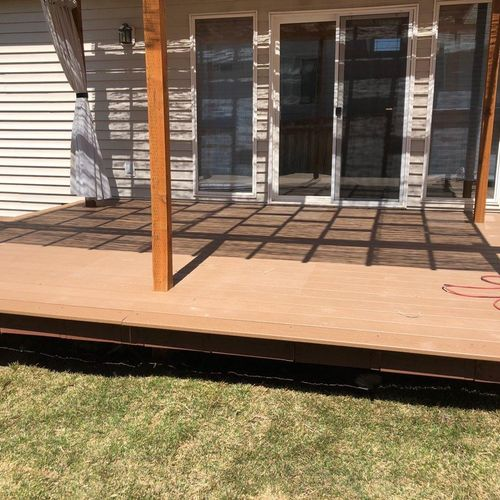 Deck with awning build