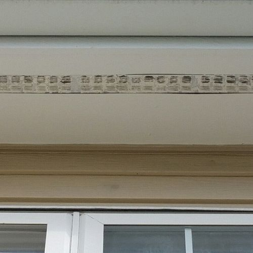 Open painted in soffit vents